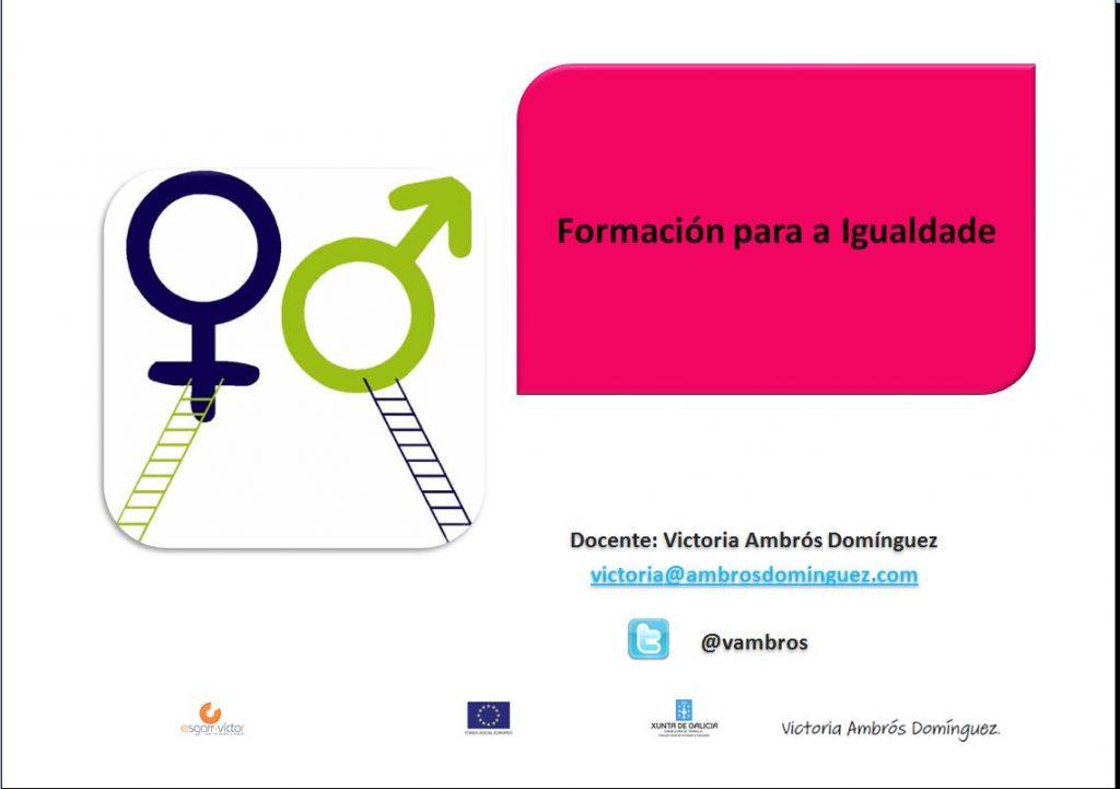 Formación para a igualdade- AFD-2013 - Xunta de Galicia