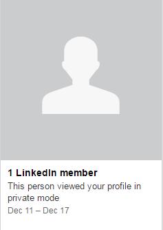 visitante anónimo de perfil en linkedin